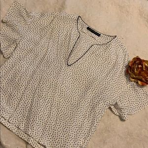 Black polka dot blouse